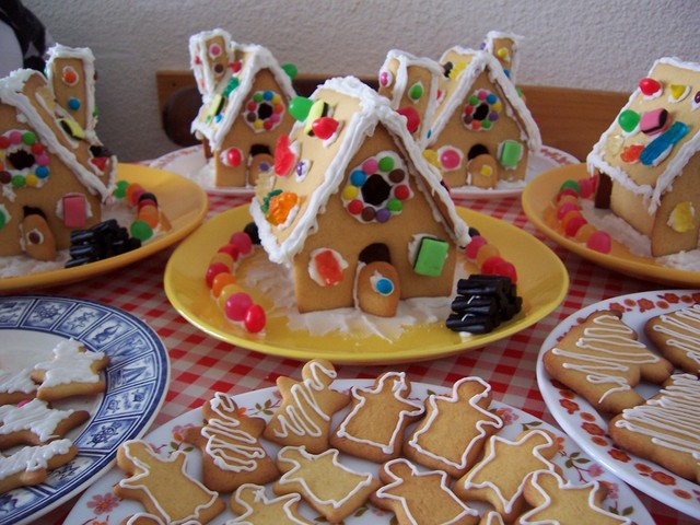 This recipe makes enough for at least five small gingerbread houses ...