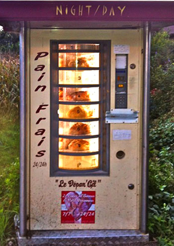 French bread vending machine