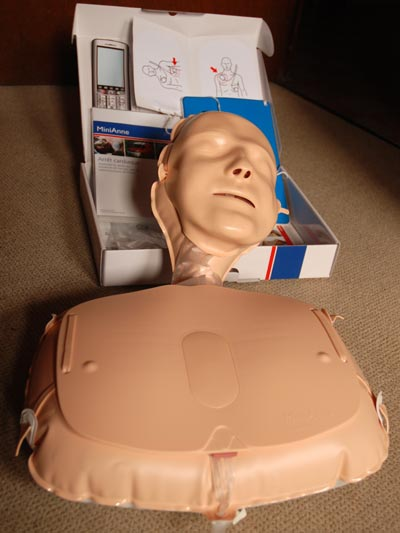 <Photo of Anne, the French CPR doll'>