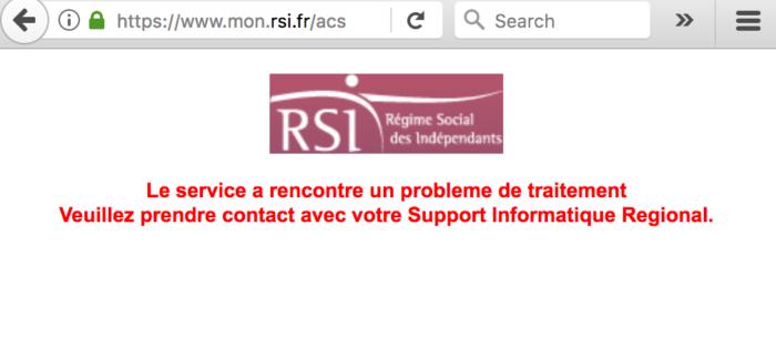 RSI payment fail