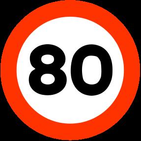 80km speed limit in France